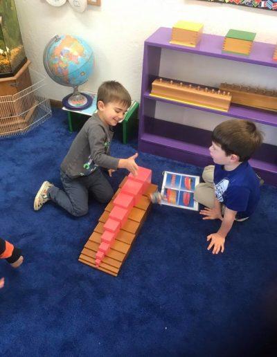 preschool pink tower blocks